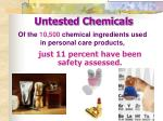 untested chemicals
