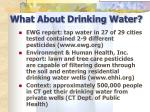 what about drinking water