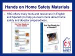 hands on home safety materials