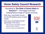 home safety council research