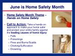 june is home safety month