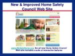 new improved home safety council web site