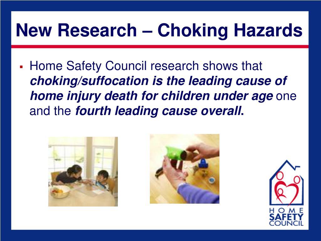 New Research – Choking Hazards