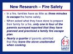 new research fire safety