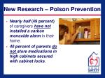 new research poison prevention