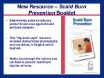 new resource scald burn prevention booklet