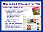 new tools resources for you