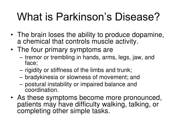 What is parkinson s disease