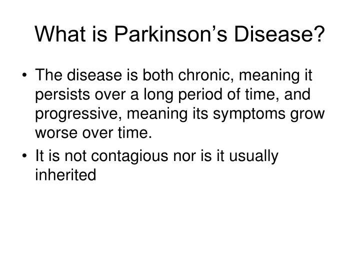 What is parkinson s disease1