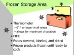frozen storage area