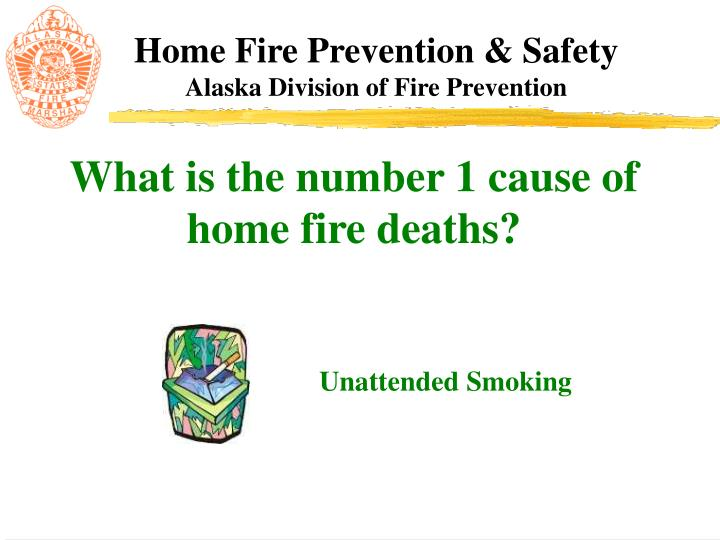 What is the number 1 cause of home fire deaths