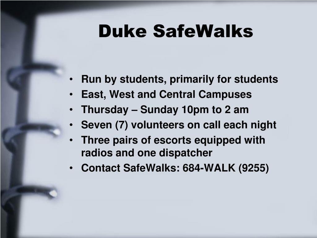Duke SafeWalks