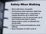 safety when walking