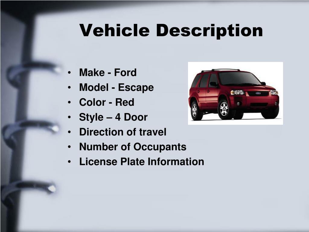 Vehicle Description