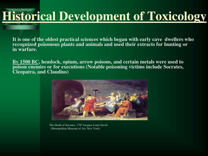 historical development of toxicology n.