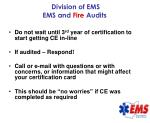 division of ems ems and fire audits44