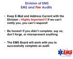 division of ems ems and fire audits45