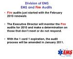 division of ems ems and fire audits46