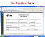 fire complaint form