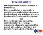 grant eligibility113