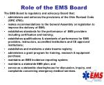 role of the ems board