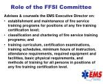 role of the ffsi committee