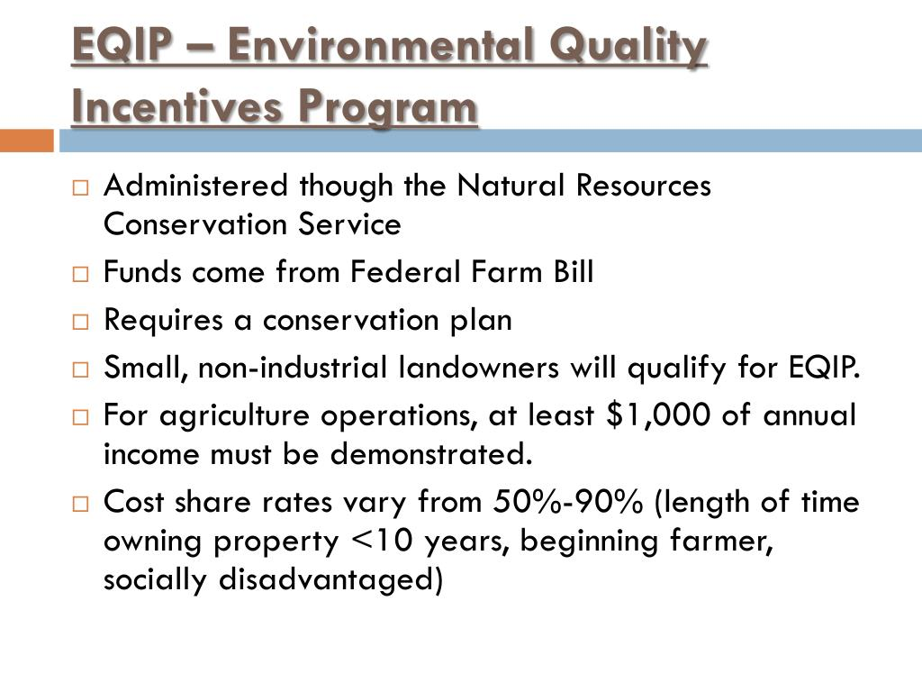 EQIP – Environmental Quality Incentives Program