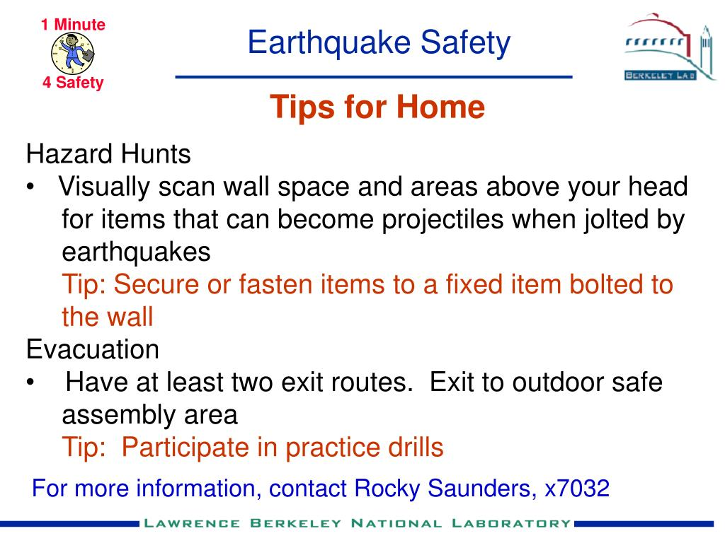 earthquake safety l.