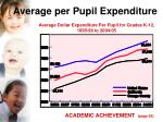 average per pupil expenditure