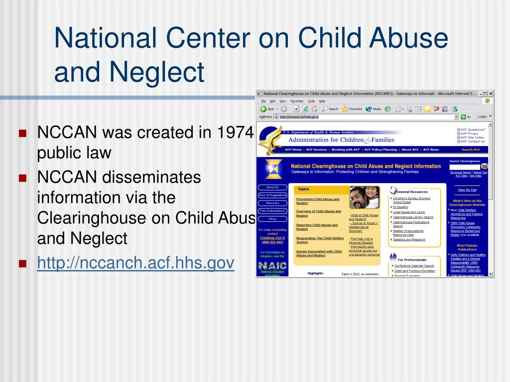 National Center on Child Abuse and Neglect