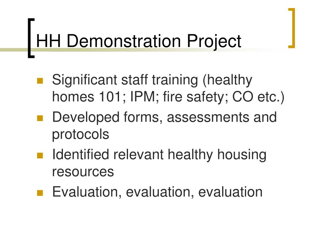 HH Demonstration Project