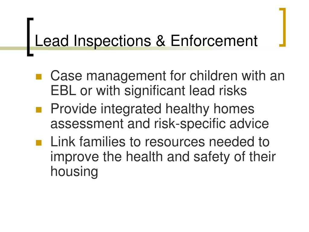 Lead Inspections & Enforcement