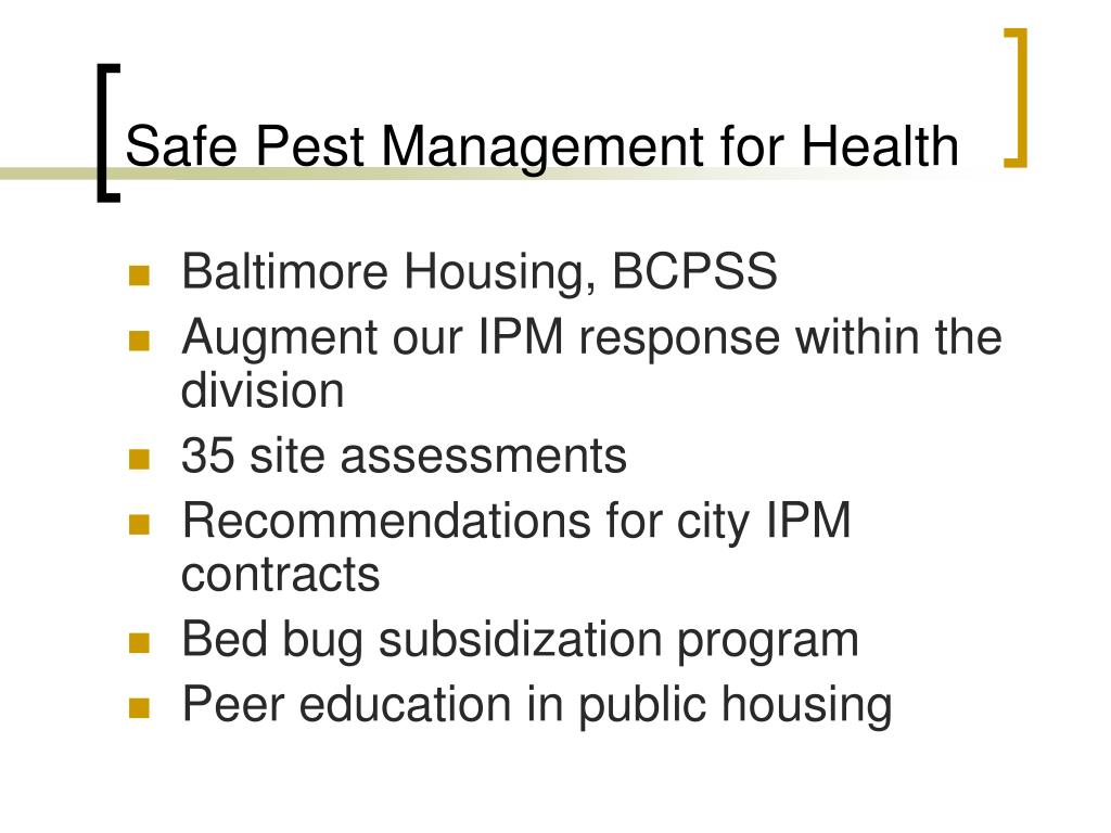 Safe Pest Management for Health