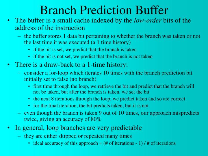 Branch Prediction Buffer