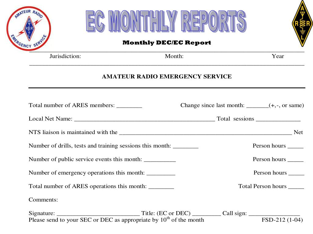 EC MONTHLY REPORTS