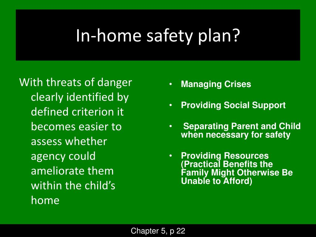 In-home safety plan?