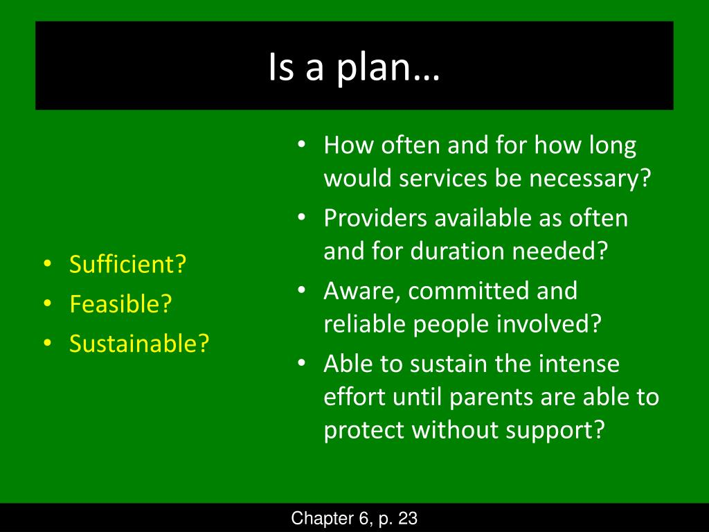 Is a plan…