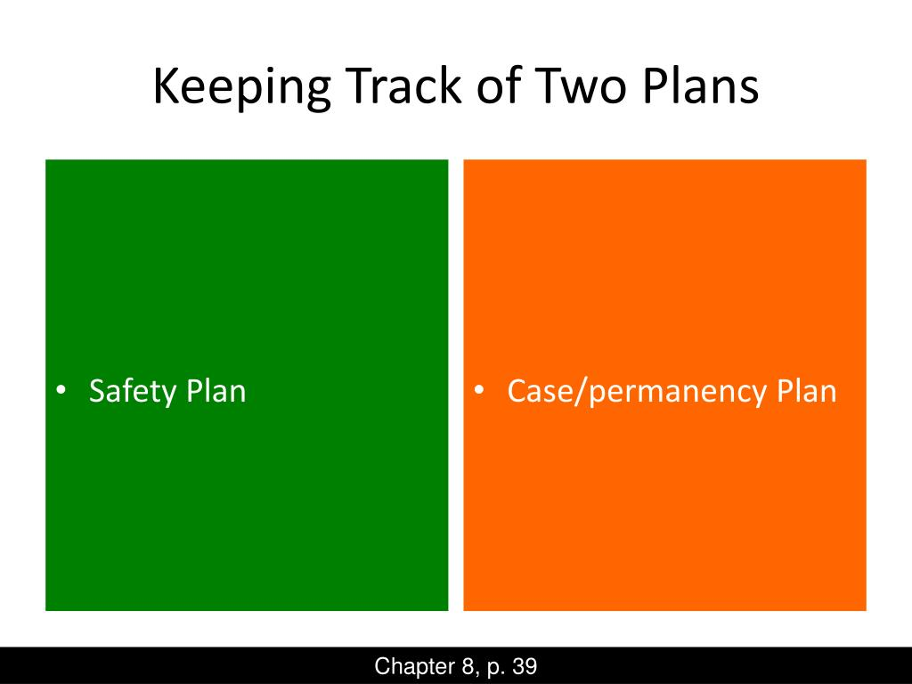 Keeping Track of Two Plans
