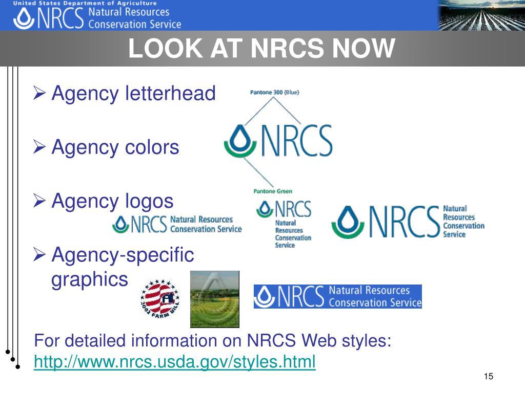 LOOK AT NRCS NOW