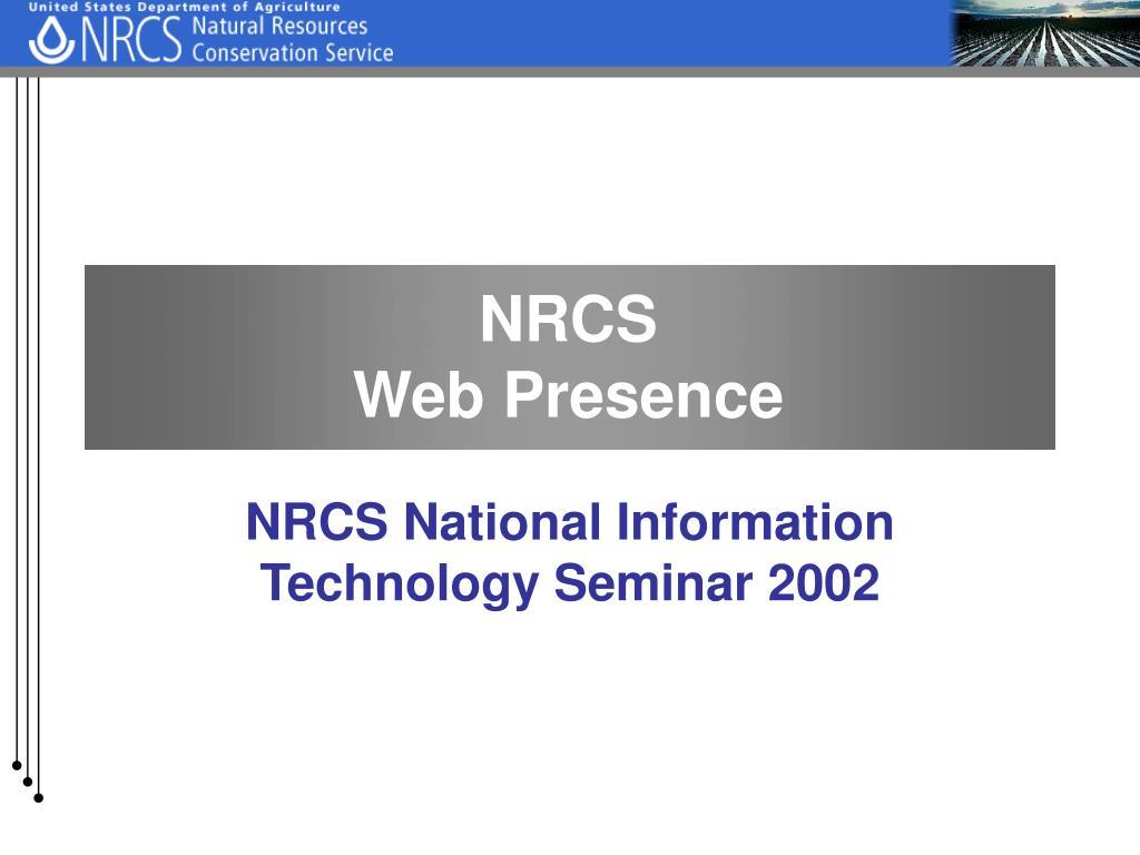 nrcs web presence l.