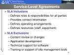 service level agreements33