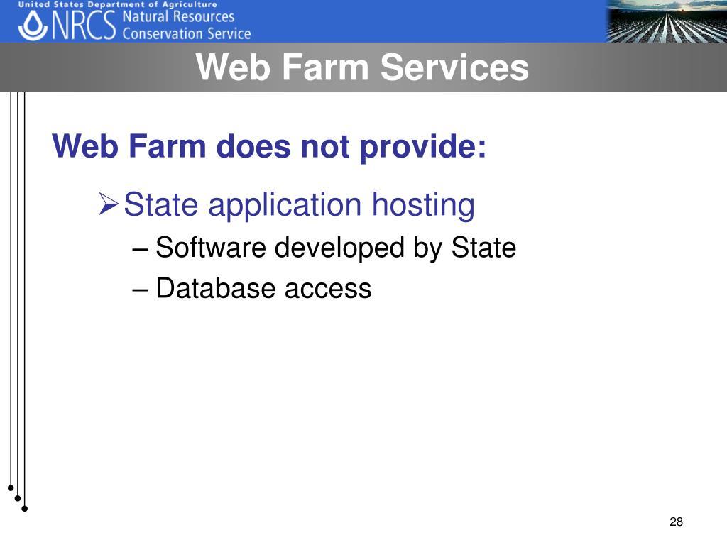 Web Farm Services