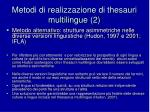 metodi di realizzazione di thesauri multilingue 2