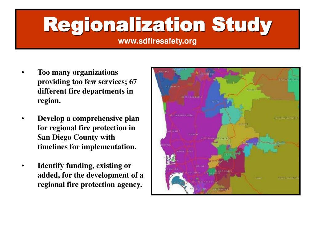 Regionalization Study