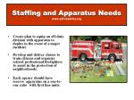 staffing and apparatus needs www sdfiresafety org