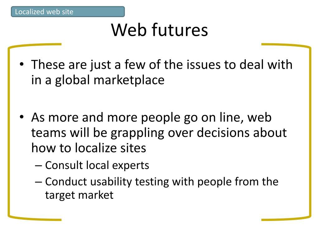 Localized web site