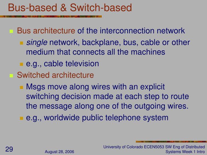 Bus-based & Switch-based