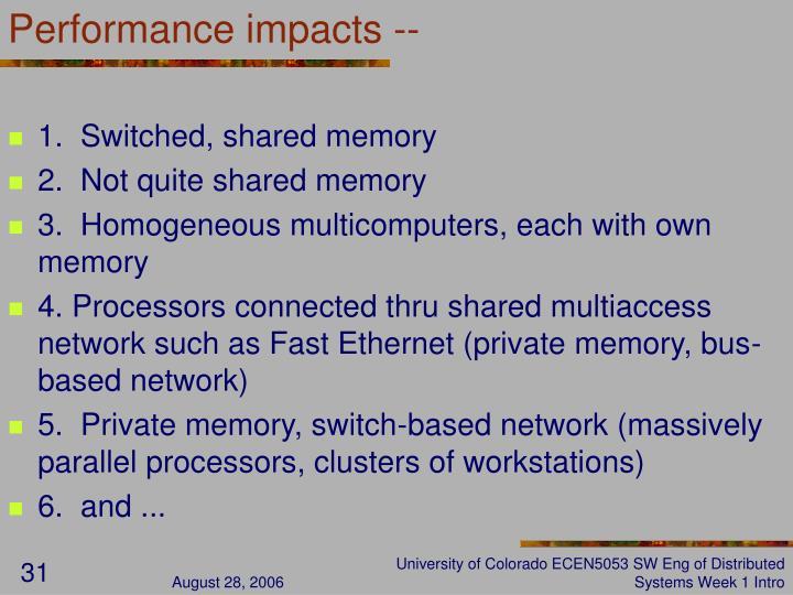 Performance impacts --
