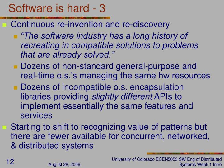 Software is hard - 3