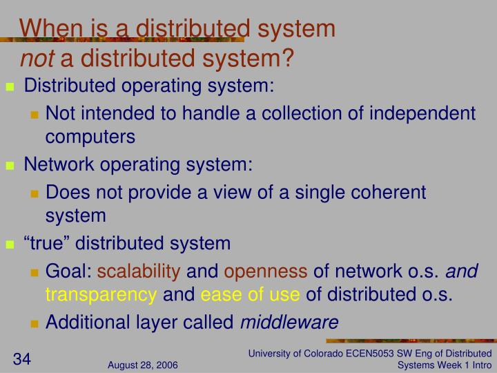 When is a distributed system
